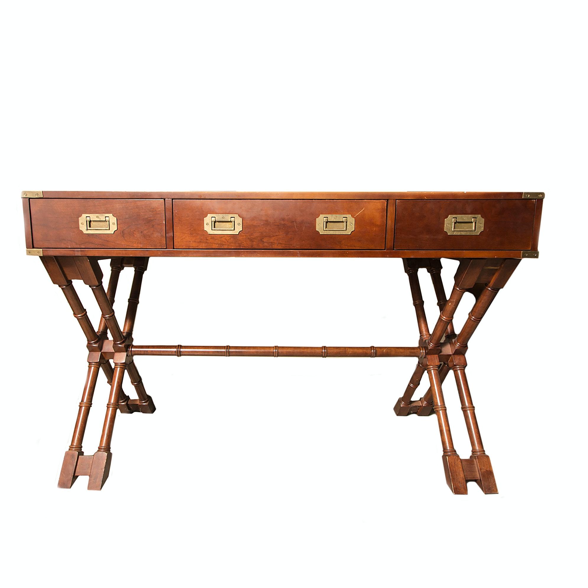 the bombay company campaign style desk ebth rh ebth com campaign style desk for sale campaign style desk for sale