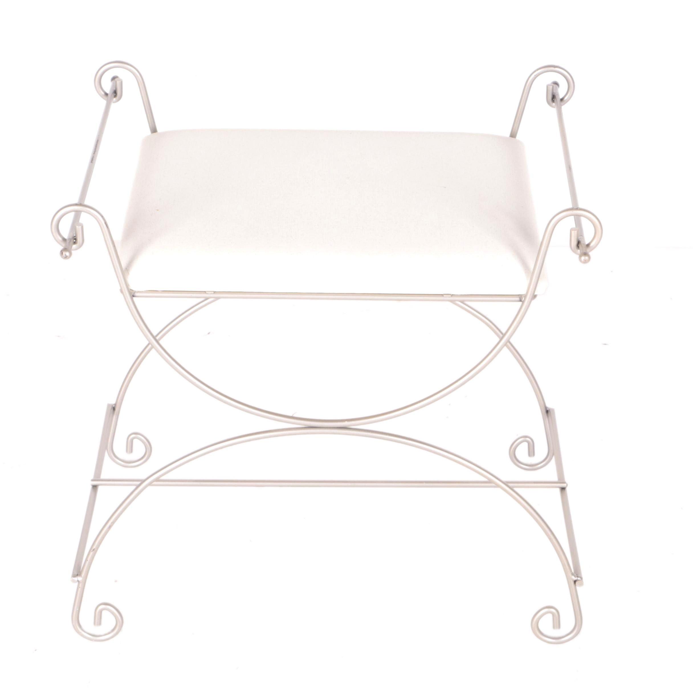 Metal Frame Vanity Seat