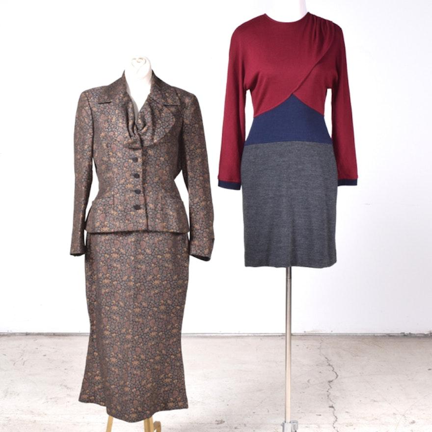 7fd0454ac6 Women s Vintage Designer Dress and Suit Featuring Oscar de La Renta and Saks  Fifth Avenue   EBTH