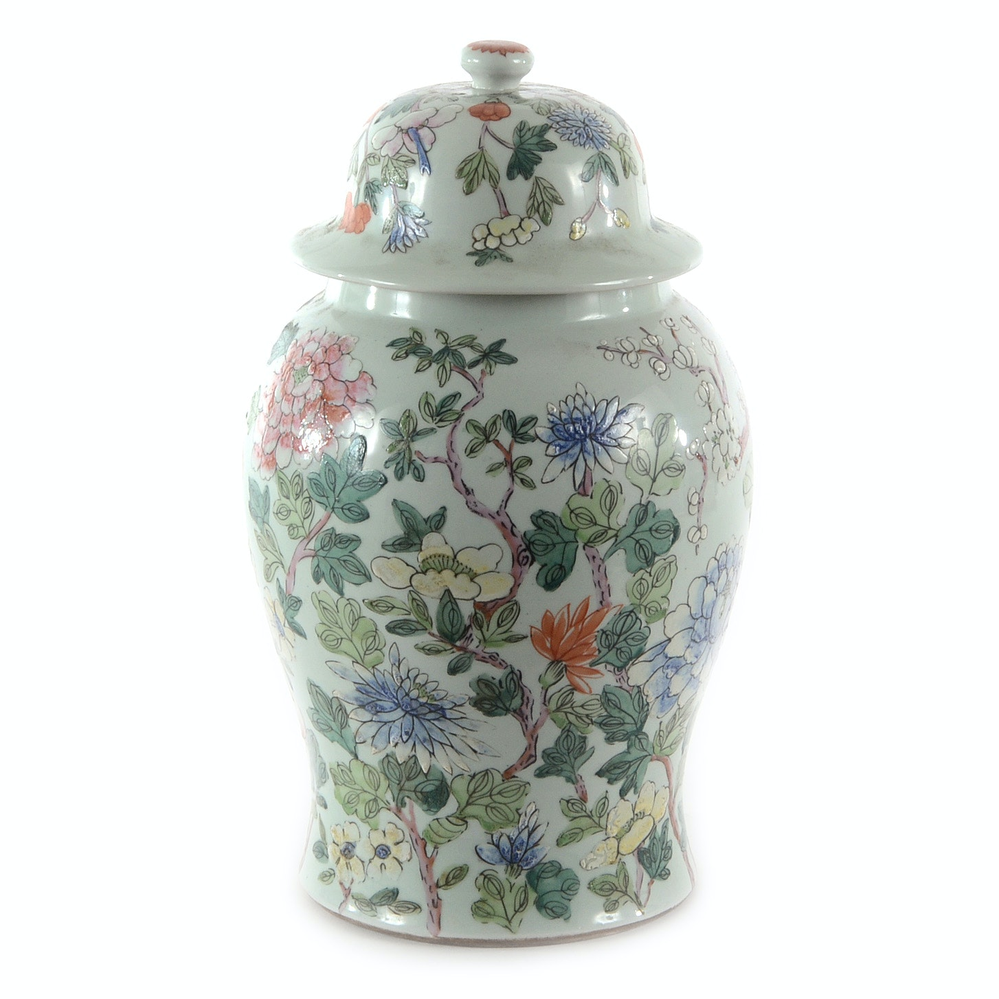 Hand Decorated Chinese Covered Jar