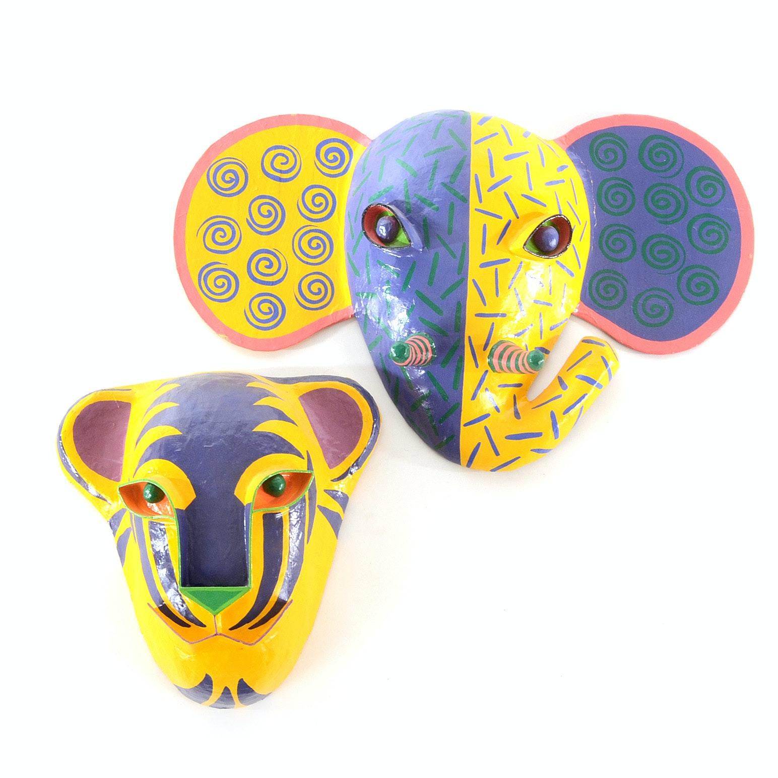 Gina Truex  Papier-Mâché Decorative Animal Masks