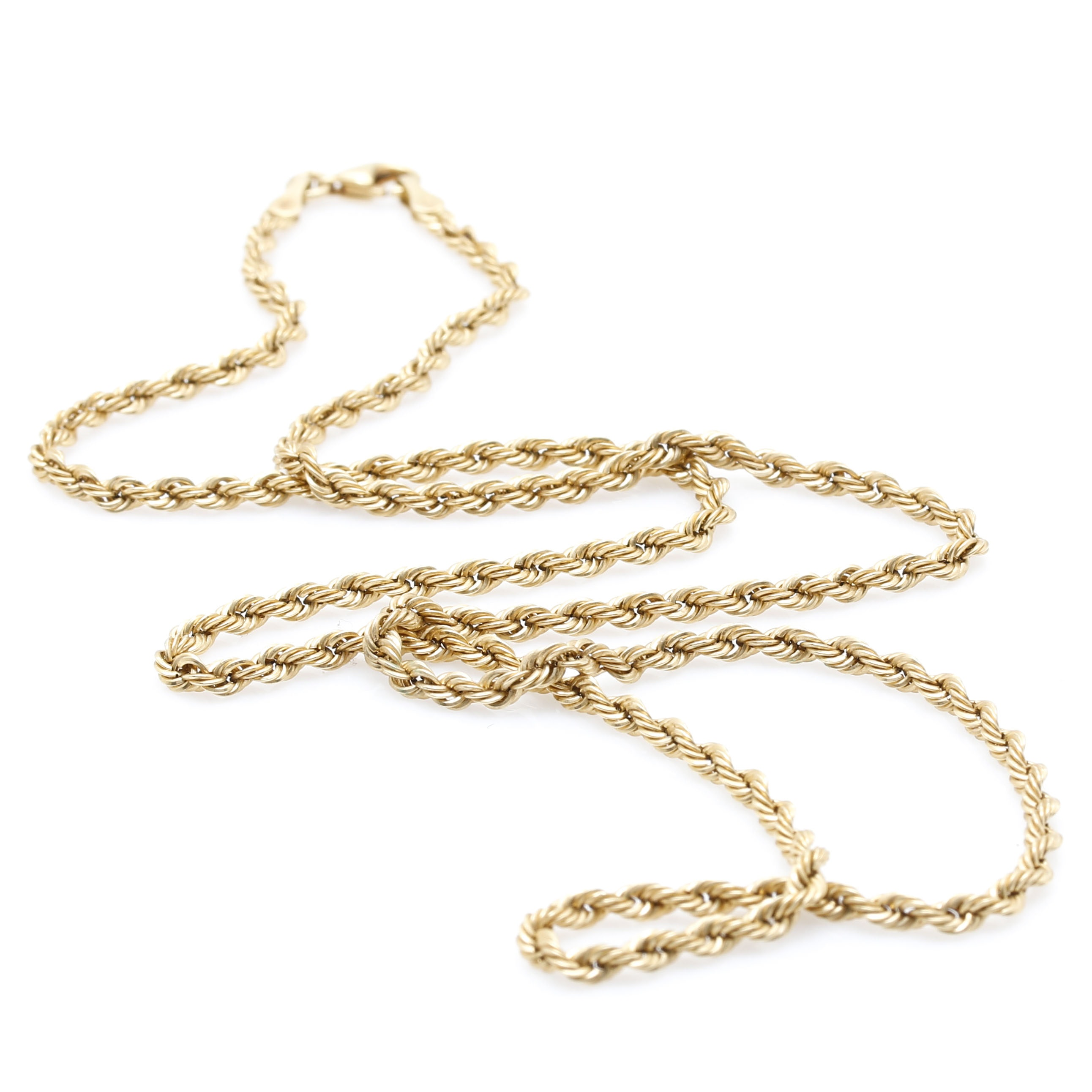 Milor 18K Yellow Gold Twisted Rope Chain
