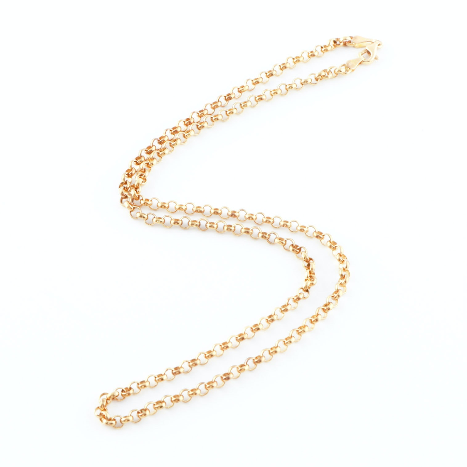 18K Yellow Gold Rolo Chain