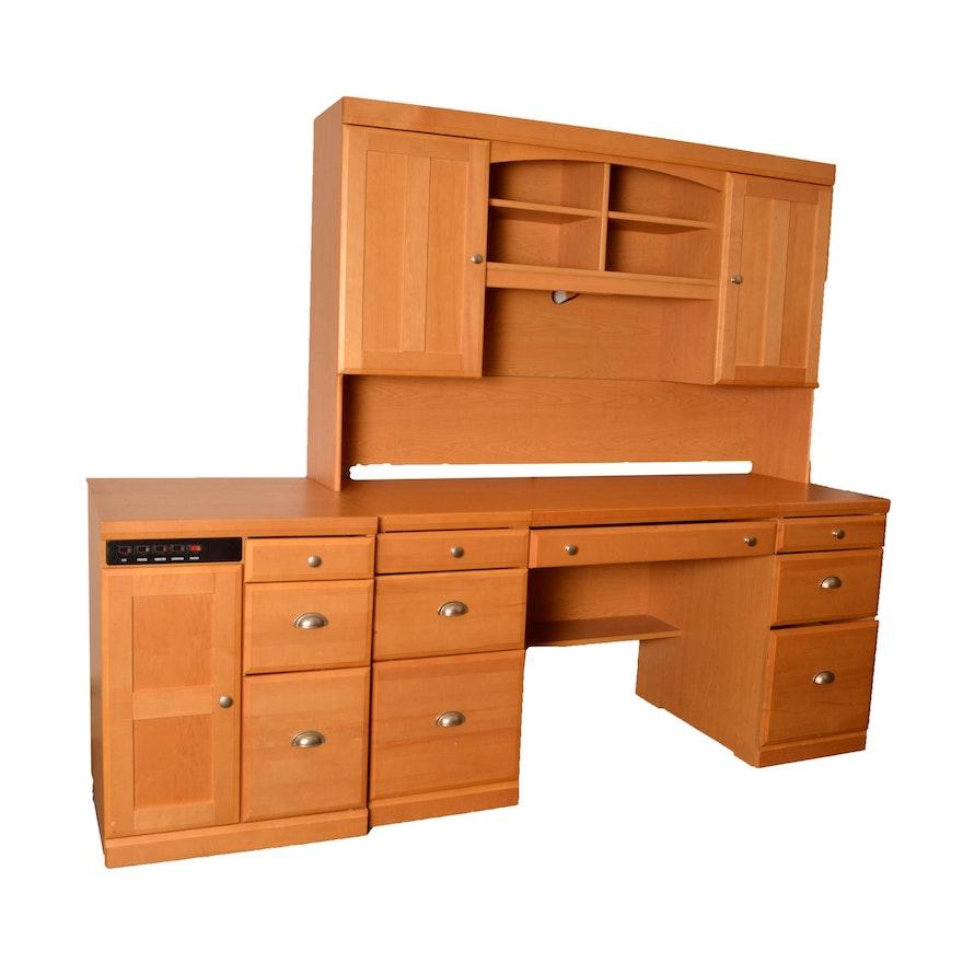 Palliser Home Office Desk And Side Table