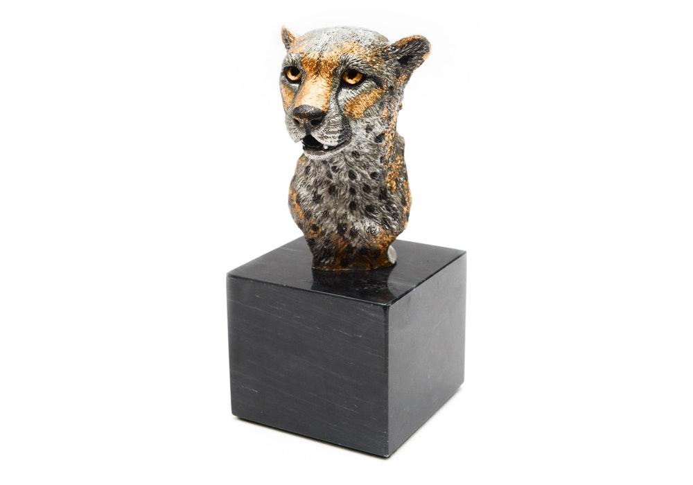 Kitty Cantrell Limited Edition Mixed Media Cheetah Sculpture 'Savannah Prince'