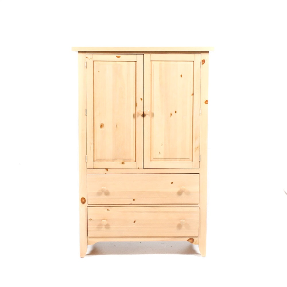 Natural Pine Shaker Style Wardrobe by Broyhill