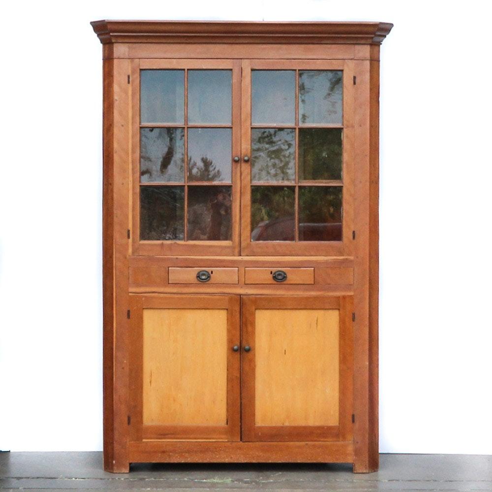 Antique Corner China Cabinet