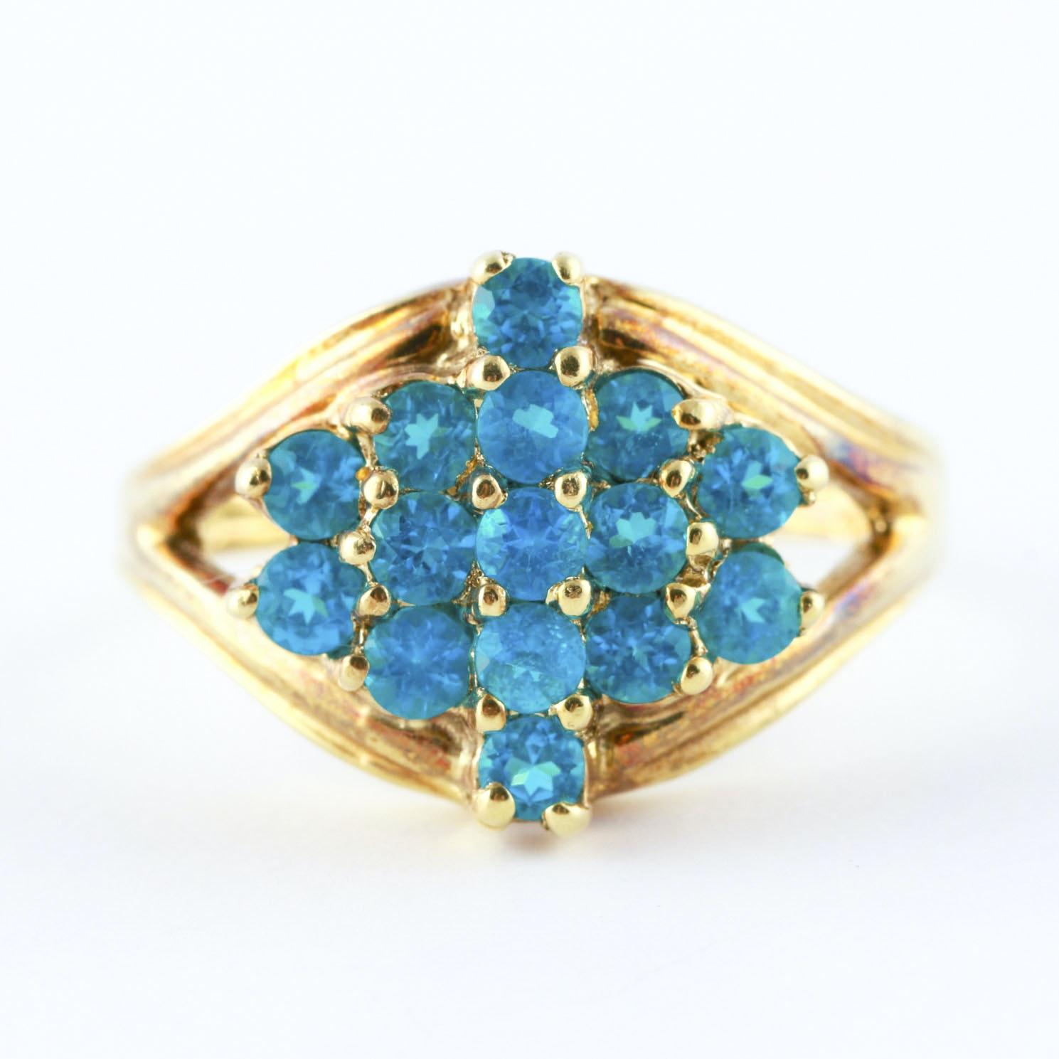 14K Yellow Gold Apatite Ring