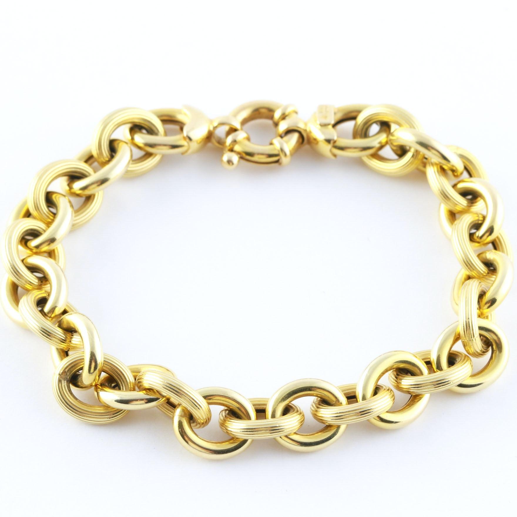 14K Yellow Gold Rolo Bracelet