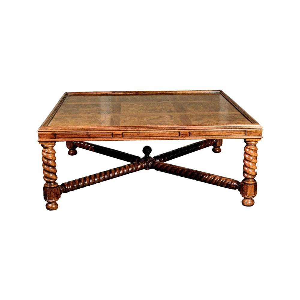Burl Veneer Coffee Table