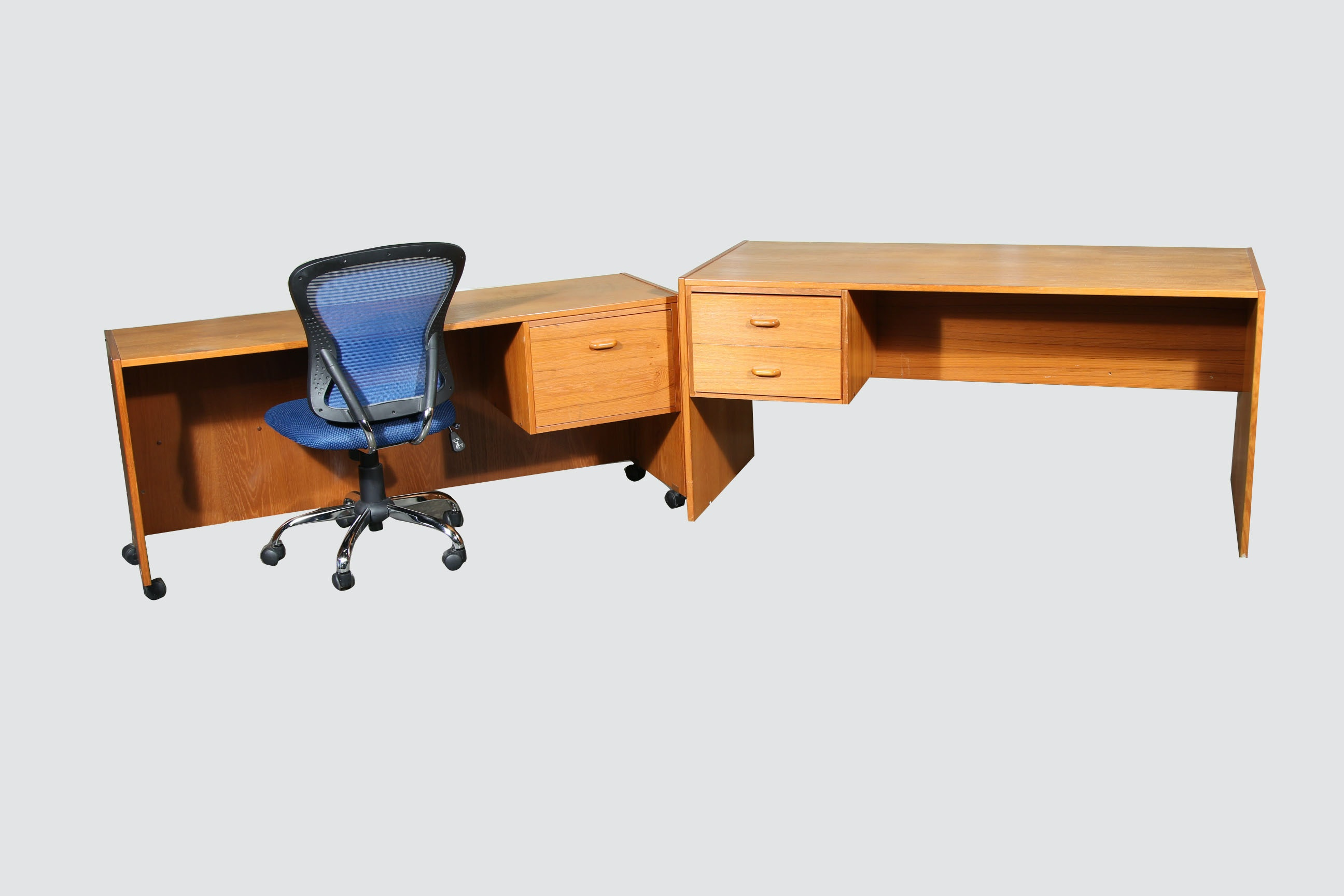 Pair of Contemporary Desks and an Office Chair