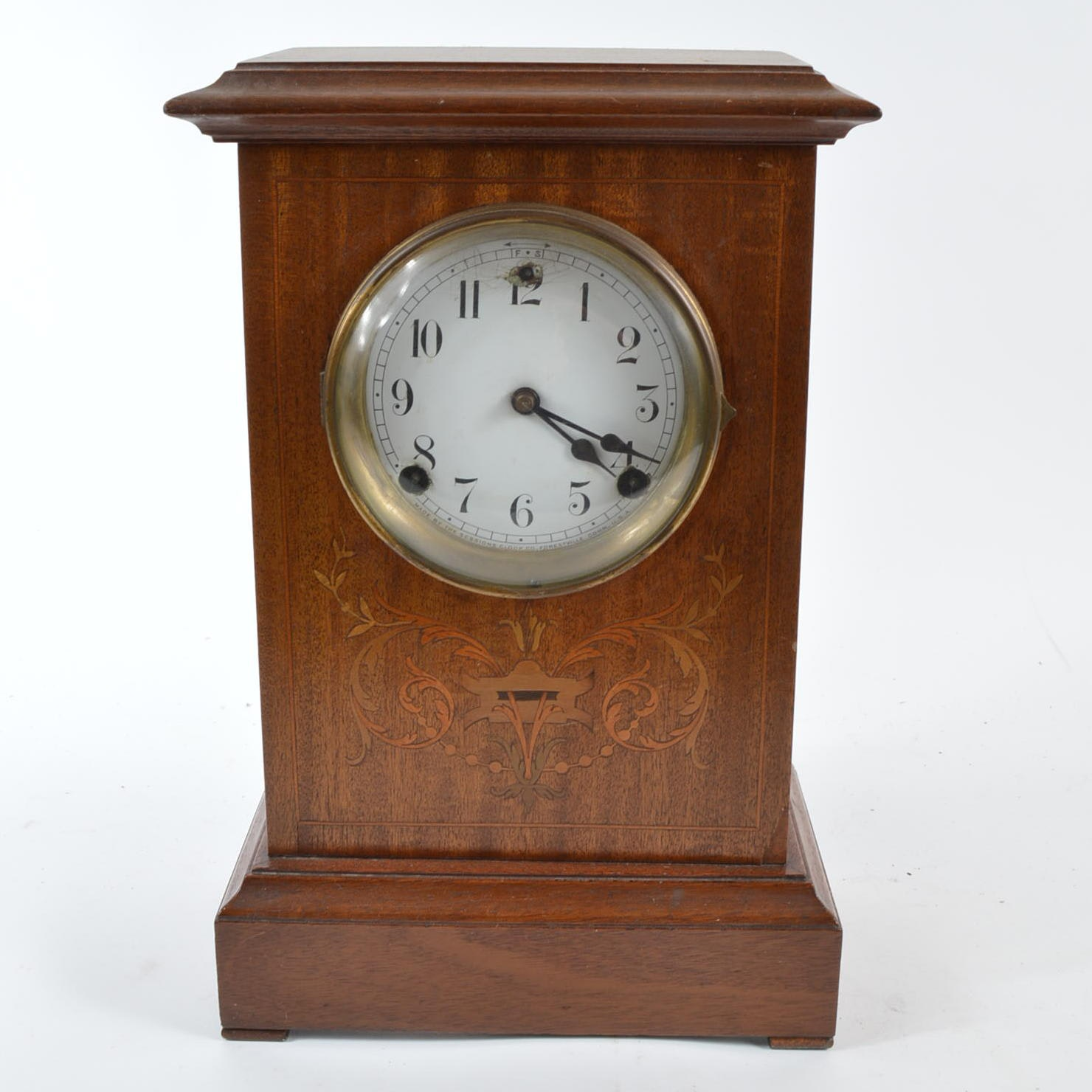 Wood Mantle Clock by Sessions Clock Company