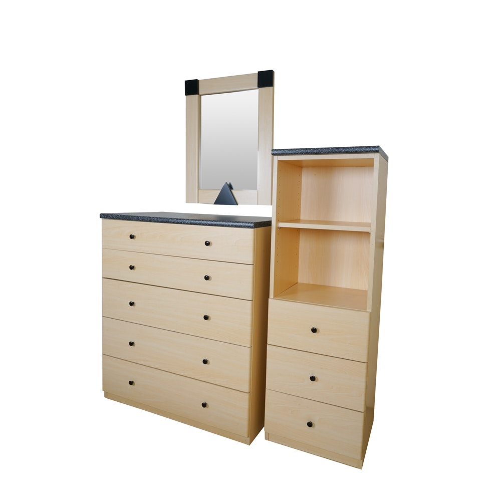 ID Kids Contemporary Cabinet, Dresser and Mirror