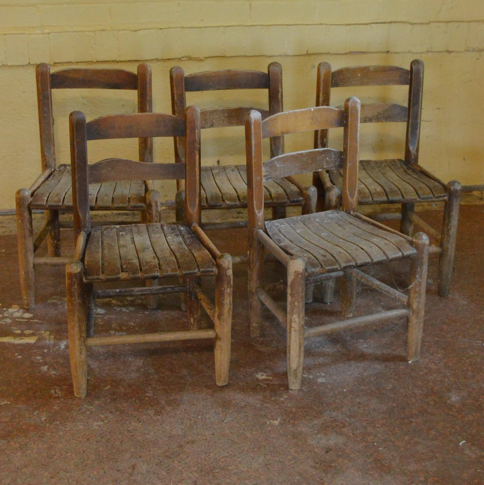 Set of Wooden Children's Chairs