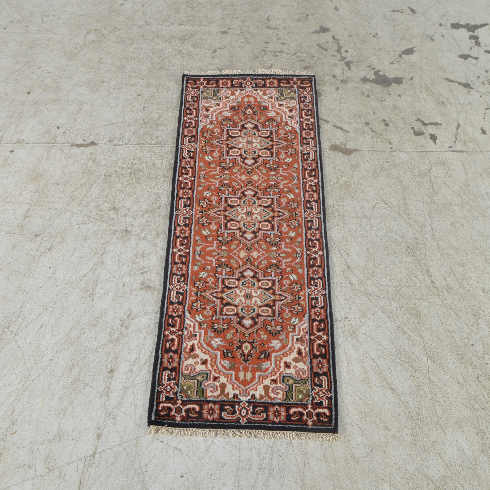 Hand-Made Indo-Persian Heriz Runner