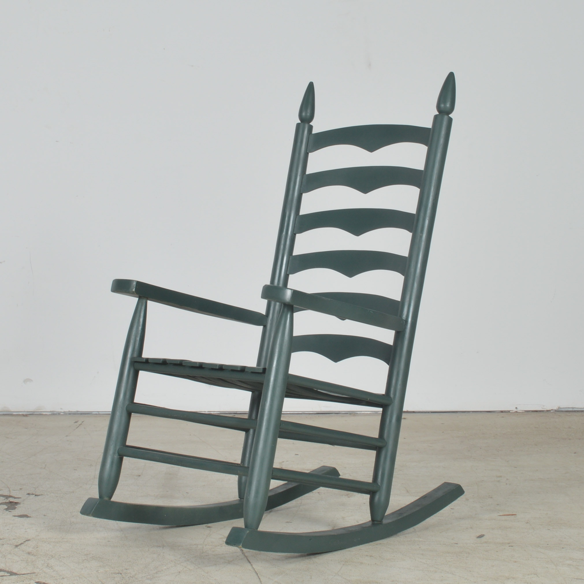 Painted Ladderback Rocking Chair
