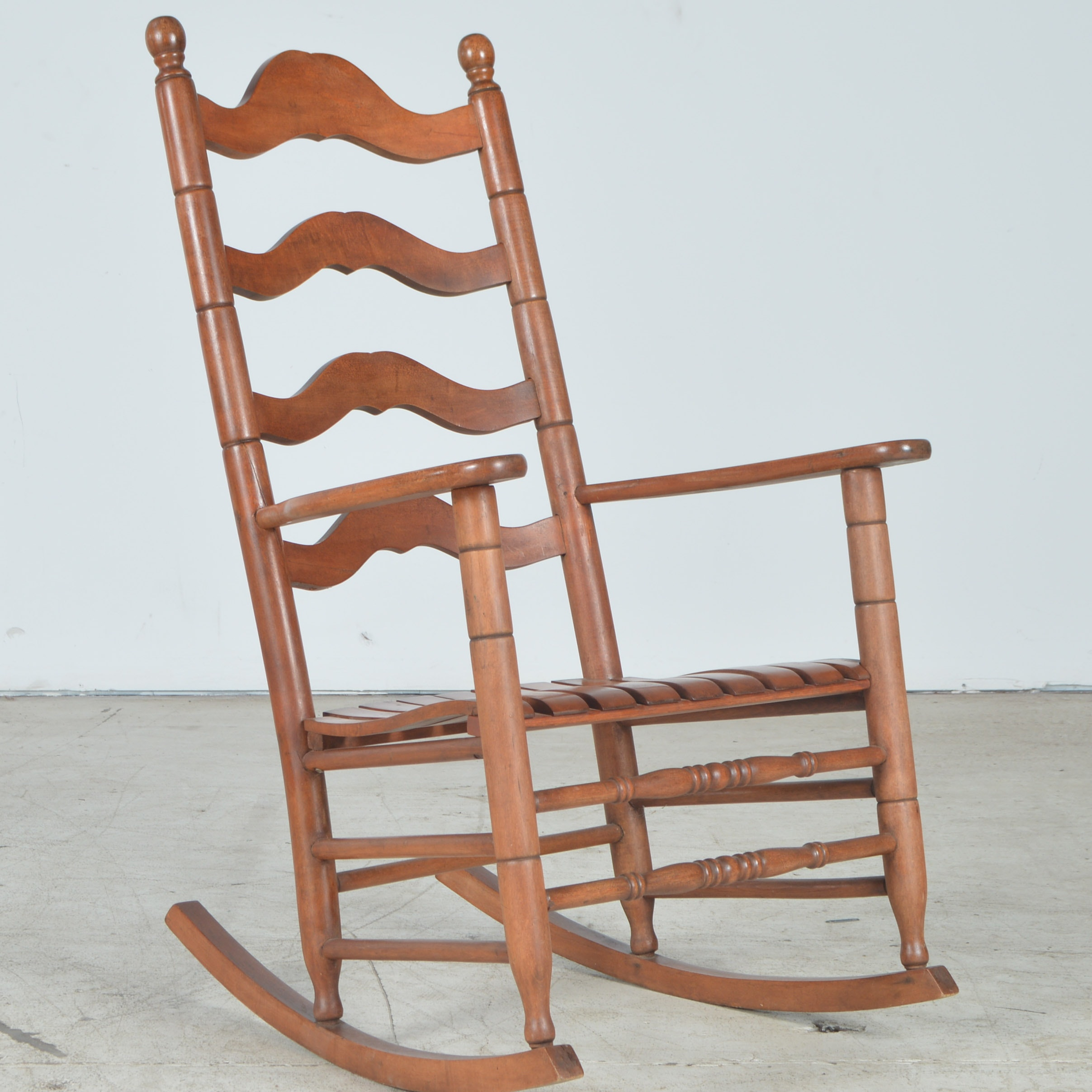 Maple Ladder-Back Rocking Chair