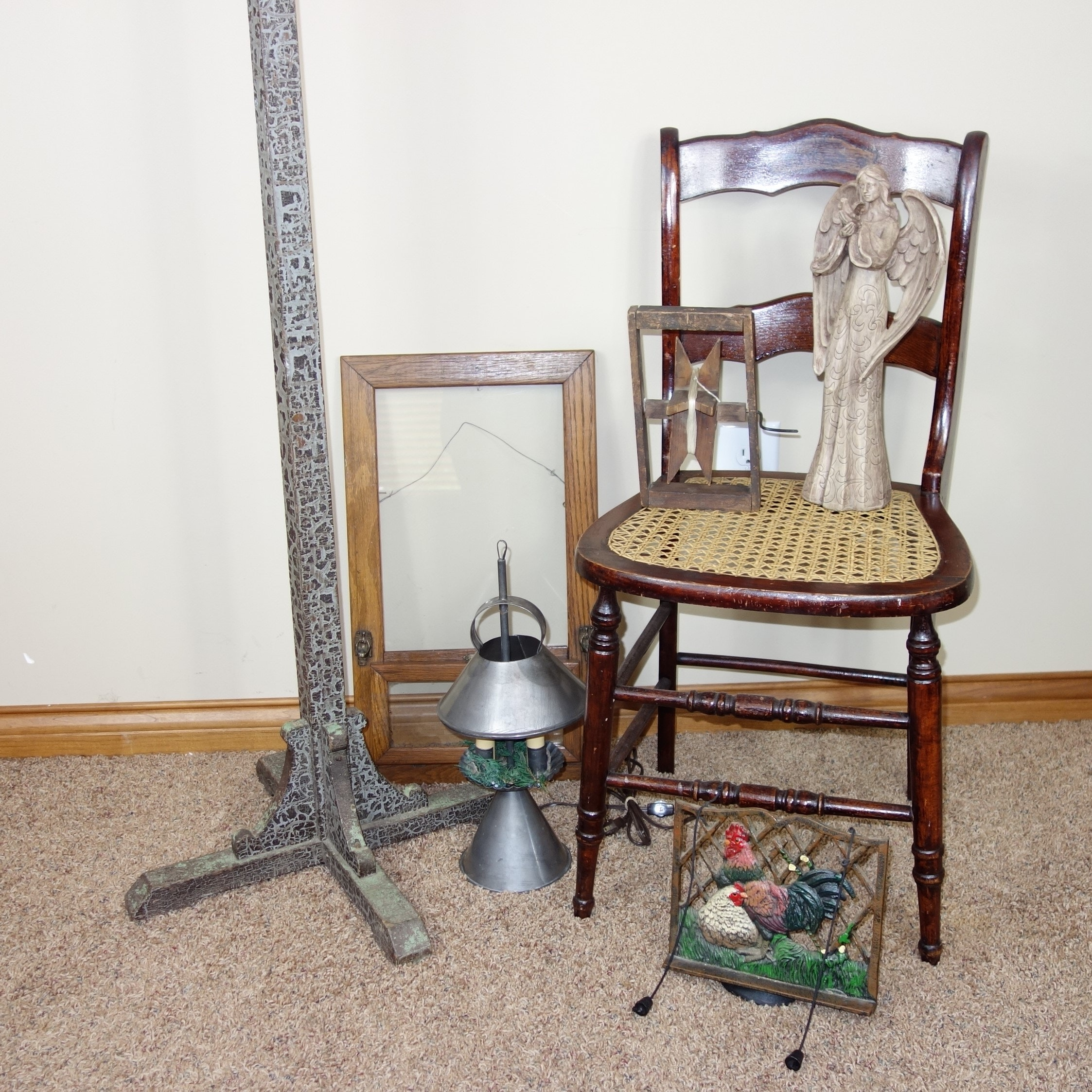 Coat Rack, Side Chair and Decor