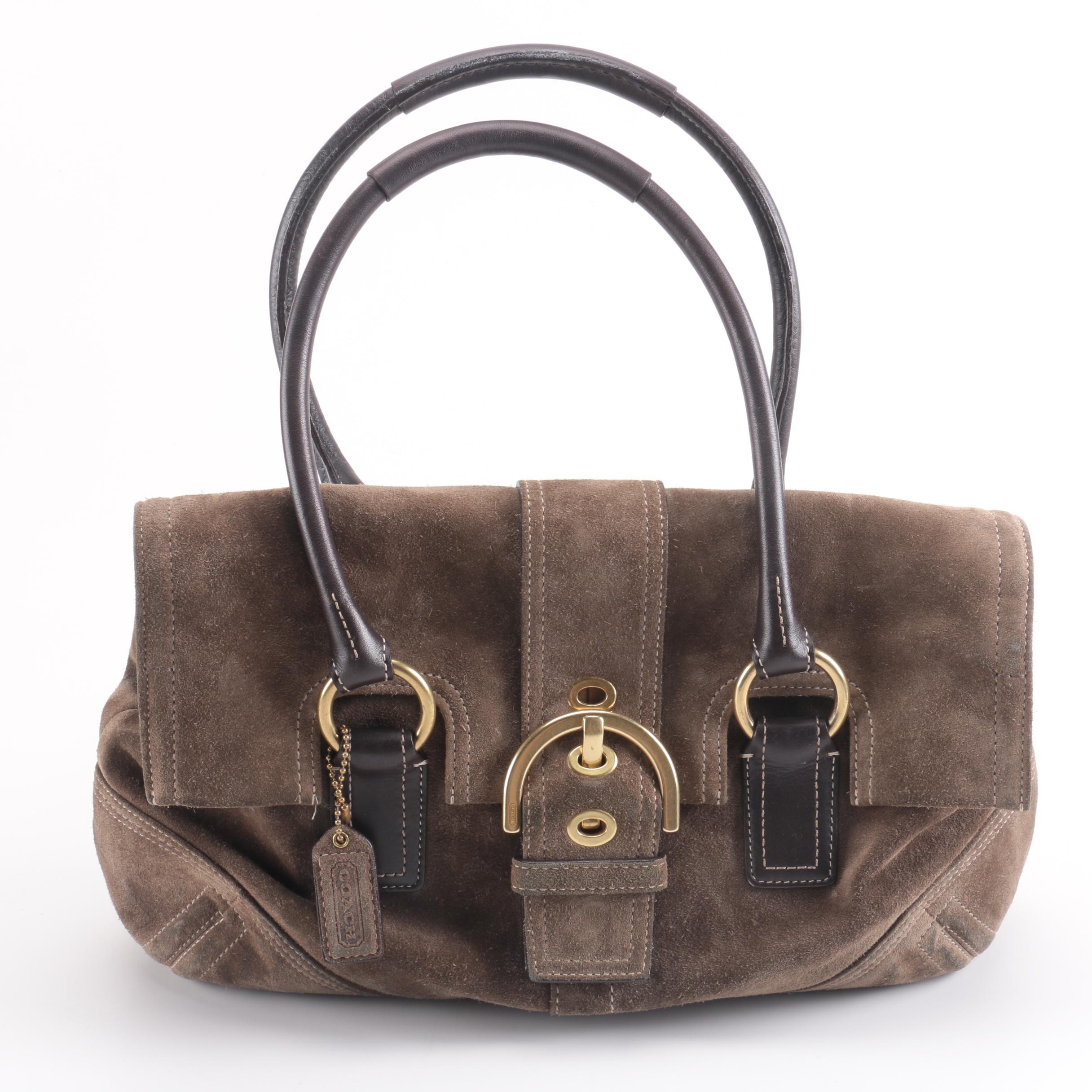 Coach Cocoa Brown Suede Handbag
