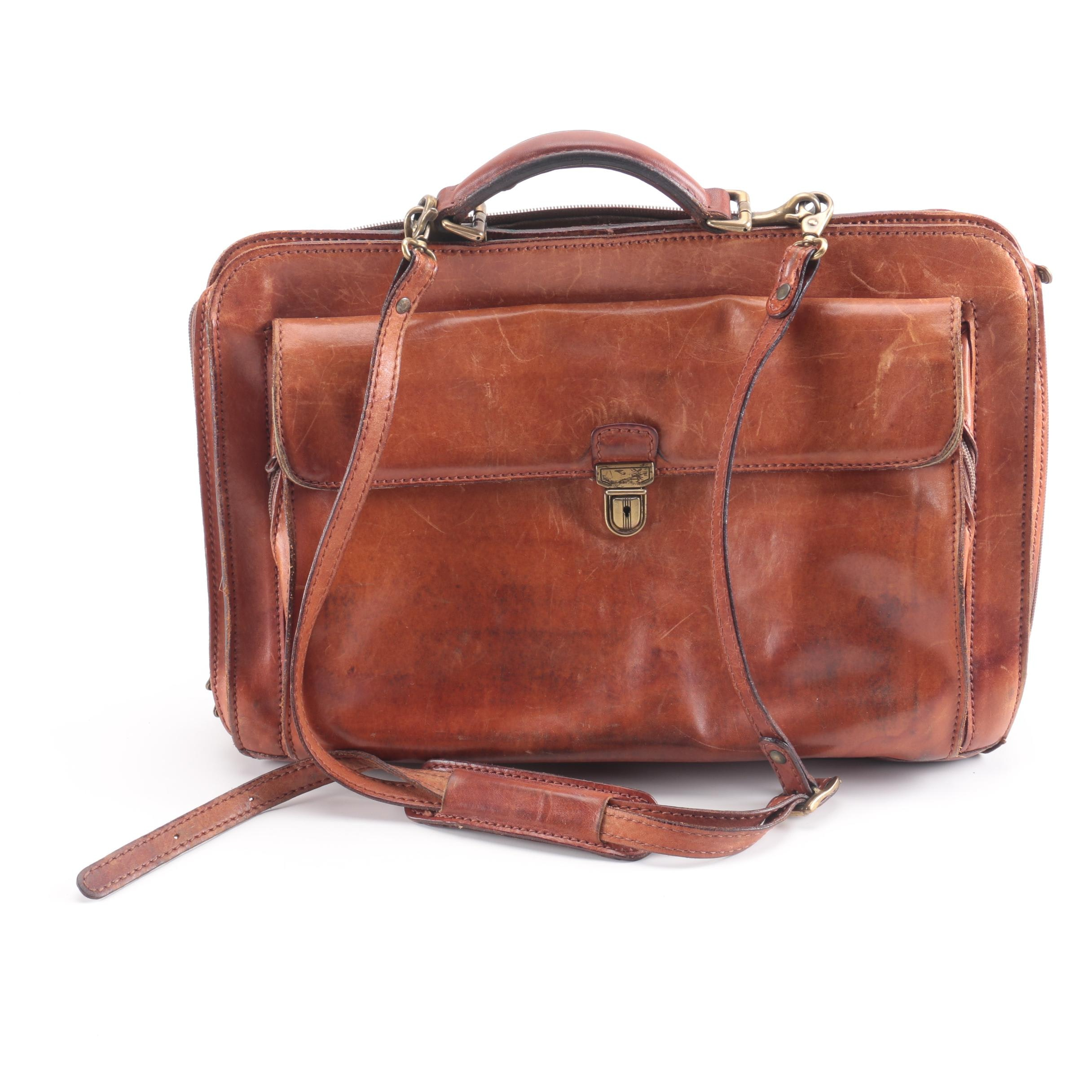 Vintage Larella Italian Leather Briefcase