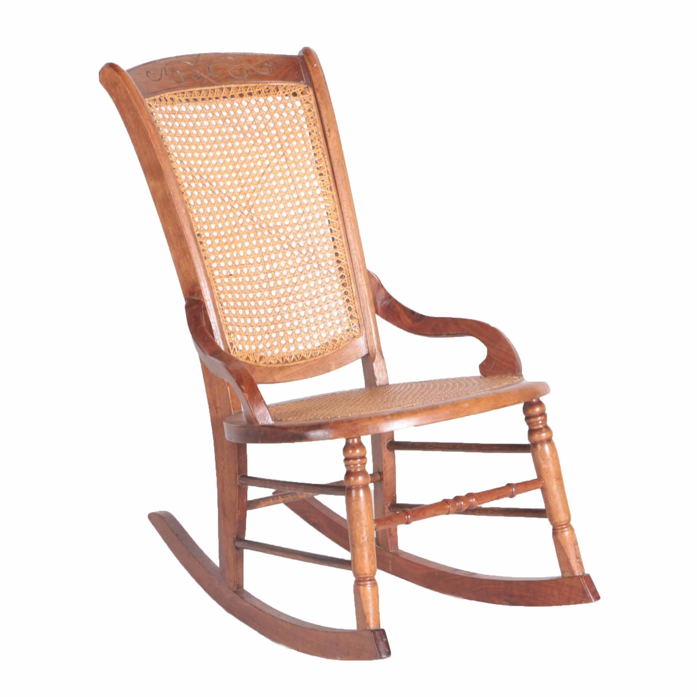 Antique Caned Rocking Chair