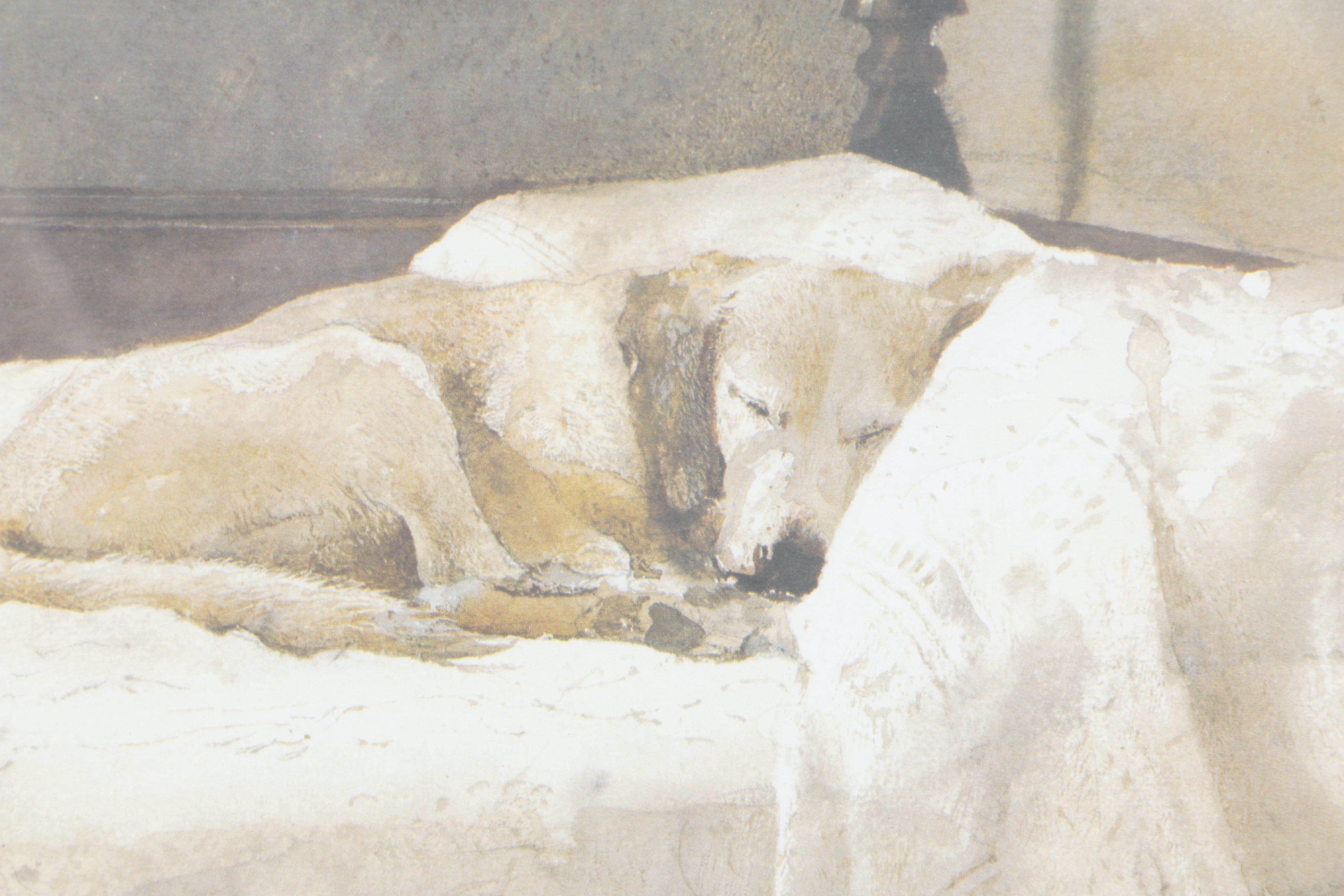 Offset Lithograph After Andrew Wyeth S Quot Master Bedroom Quot Ebth