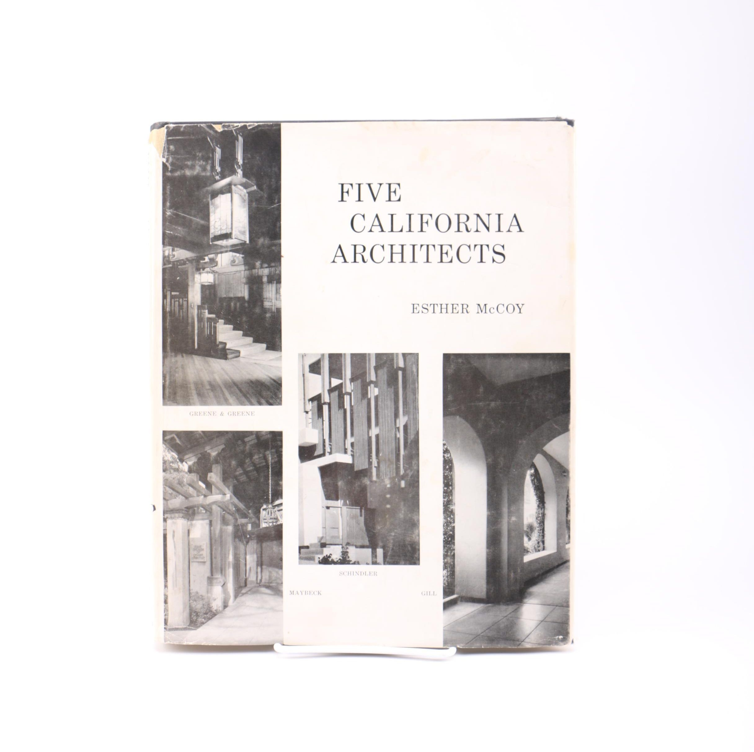 """1960 """"Five California Architects"""" by Esther McCoy"""