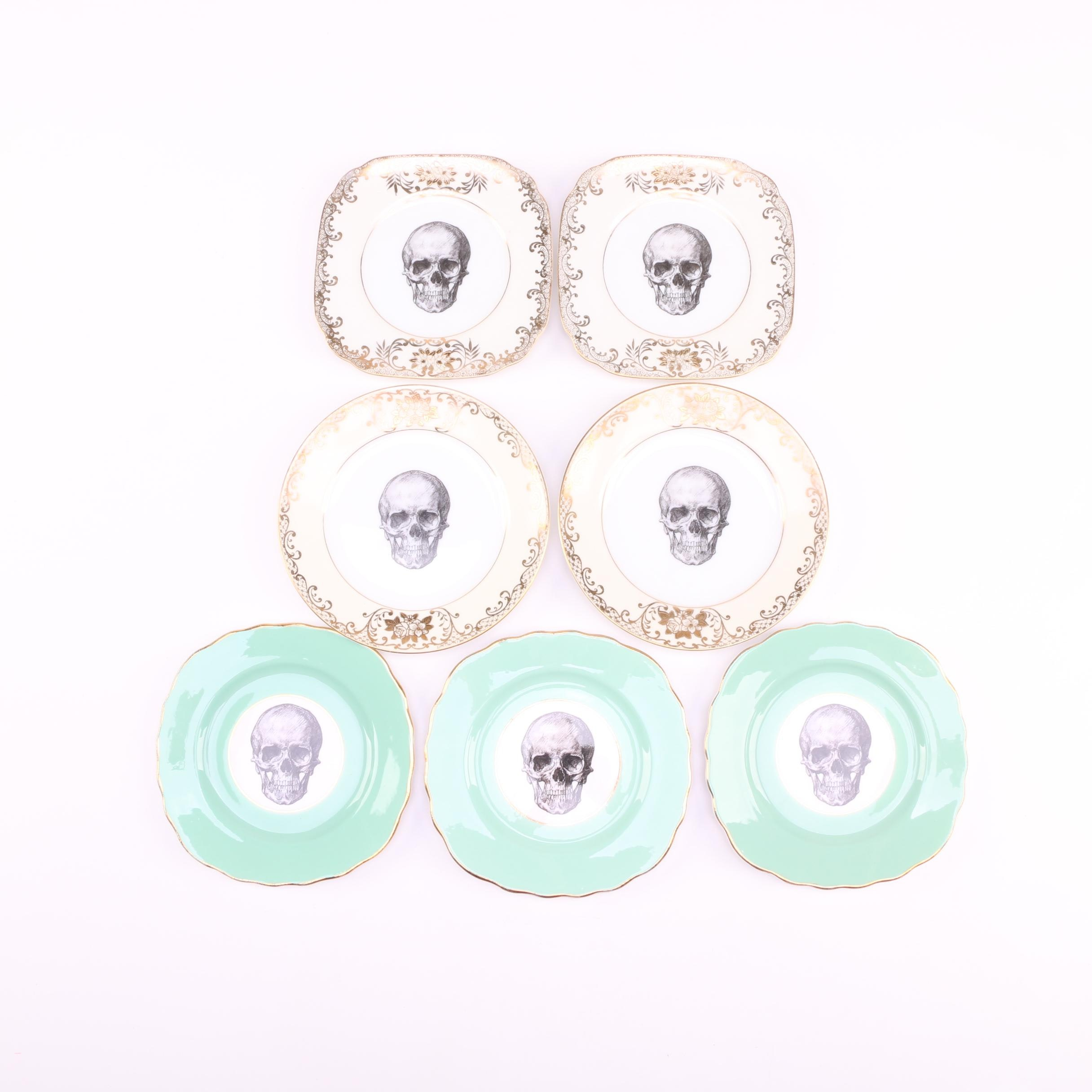 "Melody Rose Rock and Roll Collection ""Skull"" Plates"