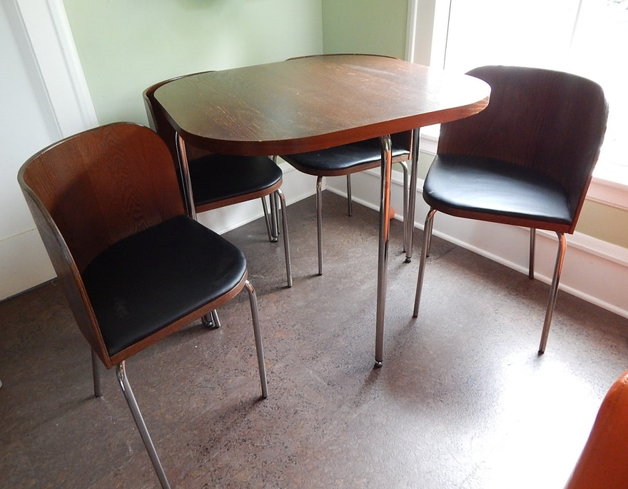 Ikea Fusion Compact Table And Four Nesting Chairs Ebth