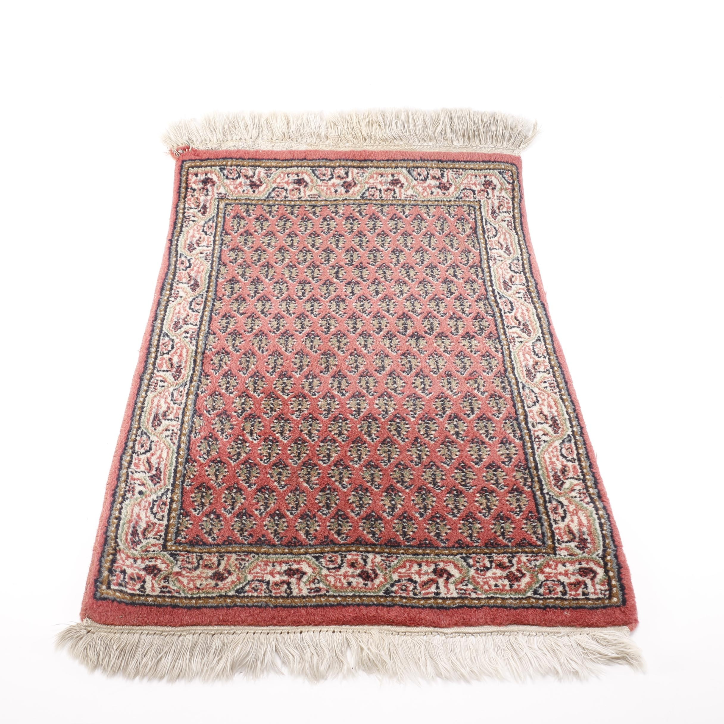Hand-Knotted Persian Serebend Accent Rug