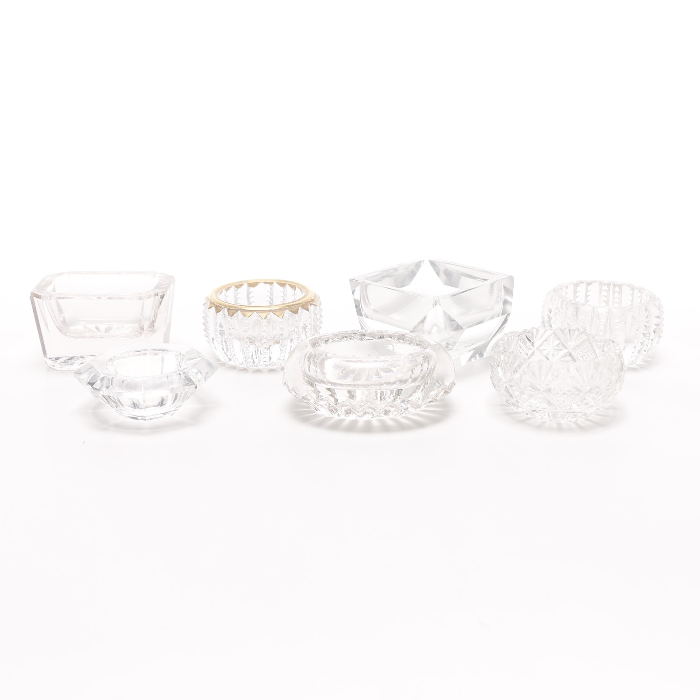 Crystal and Cut Glass Salt Cellars