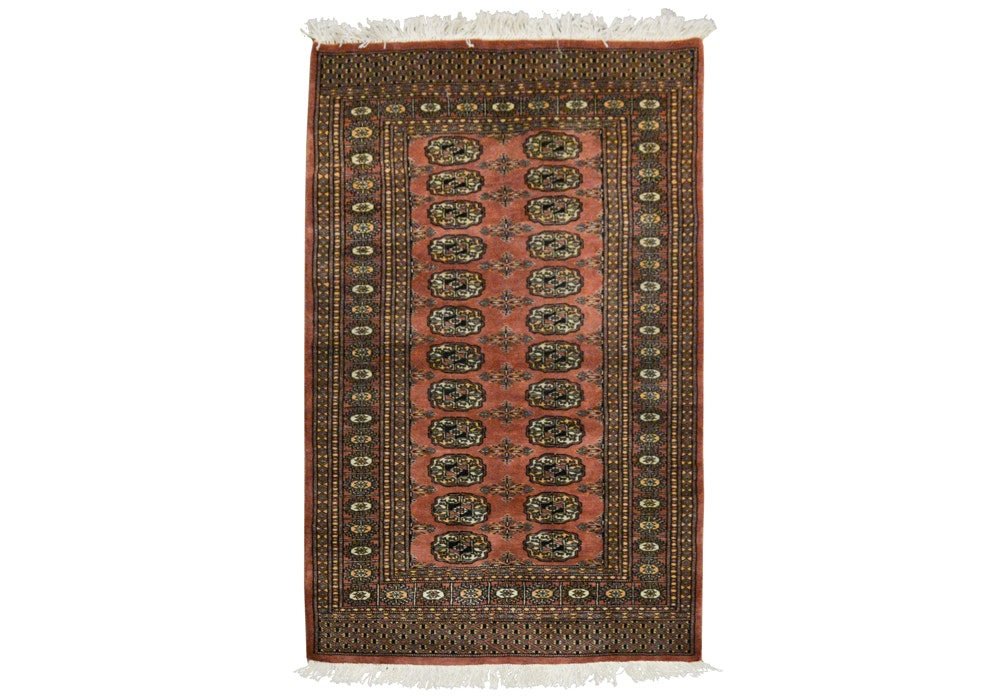 Hand-Knotted Bokhara Area Rug