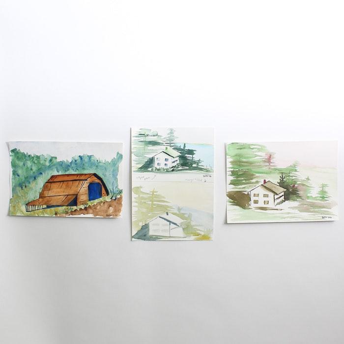 Original  Watercolor Paintings by Barabara Hubschman