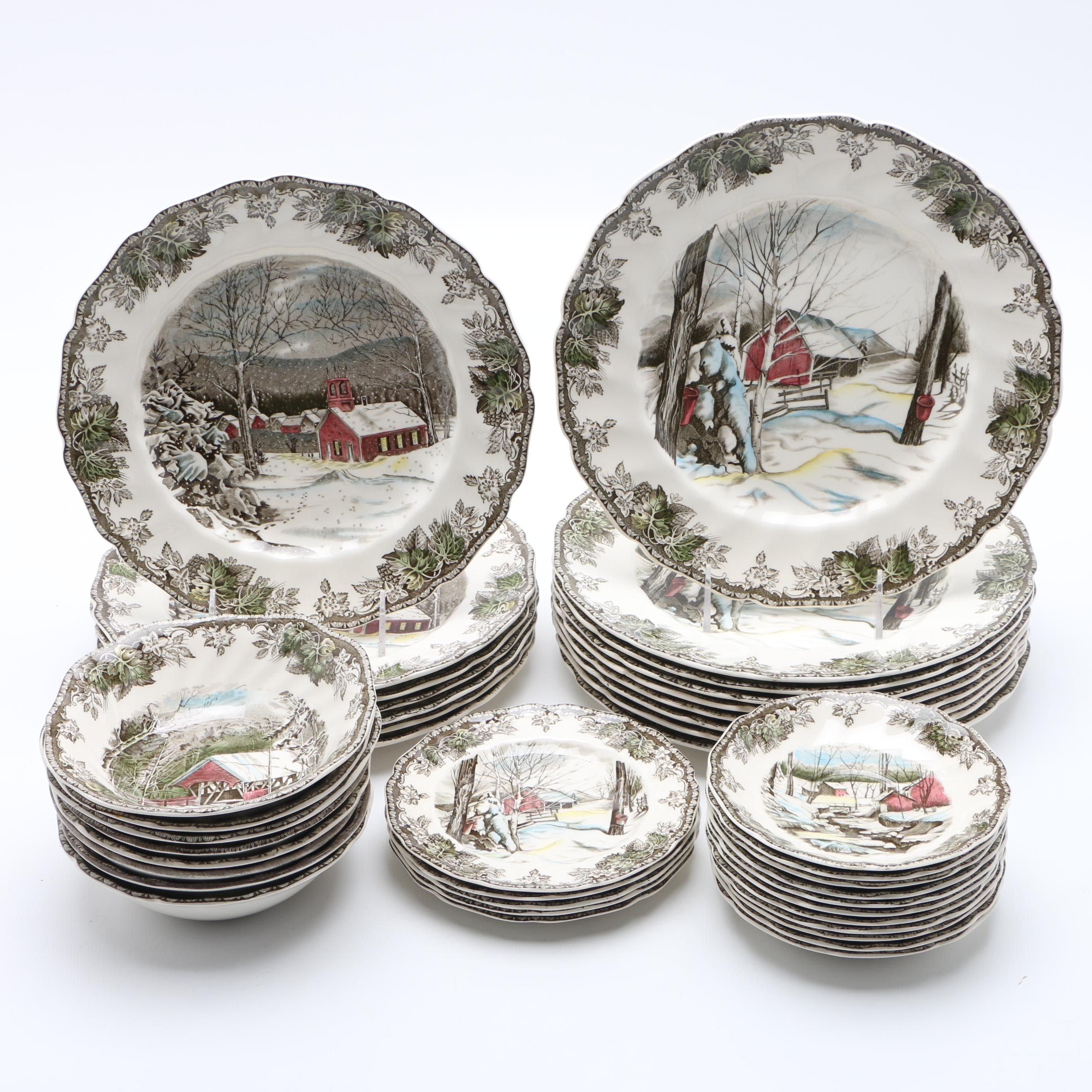 """Johnson Bros. """"Friendly Village"""" Decorative Plates and Dishes"""