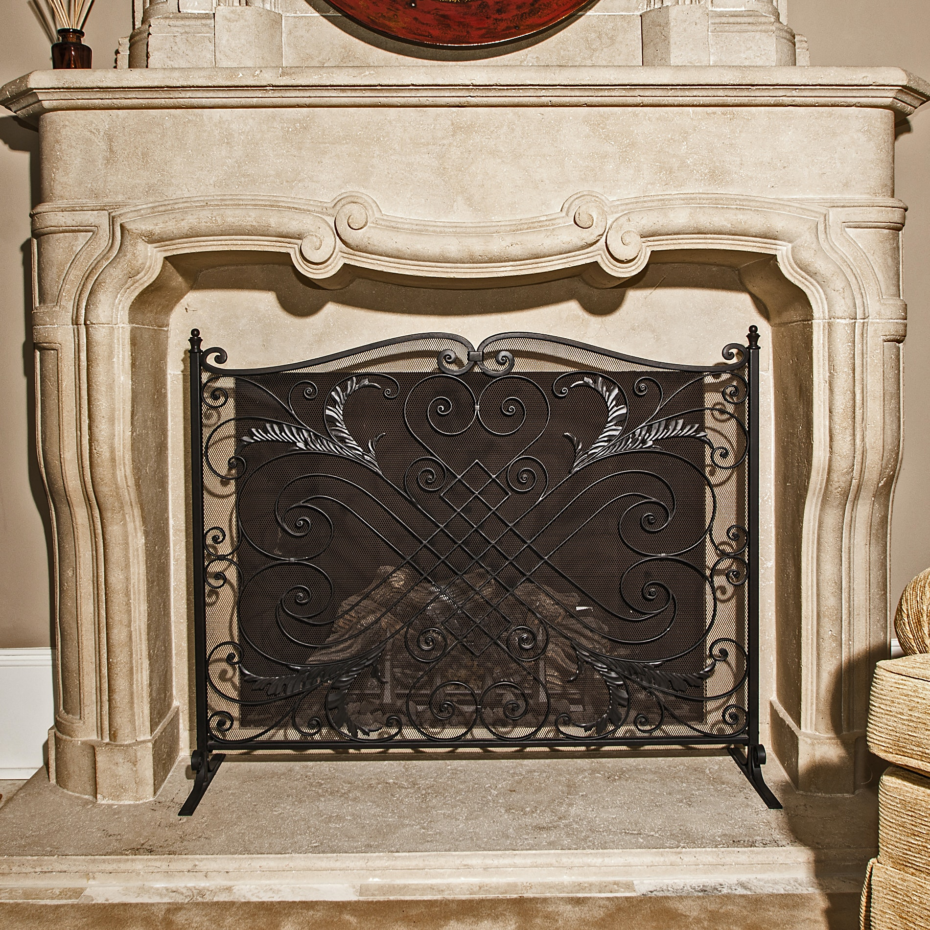 Iron Fireplace Screen