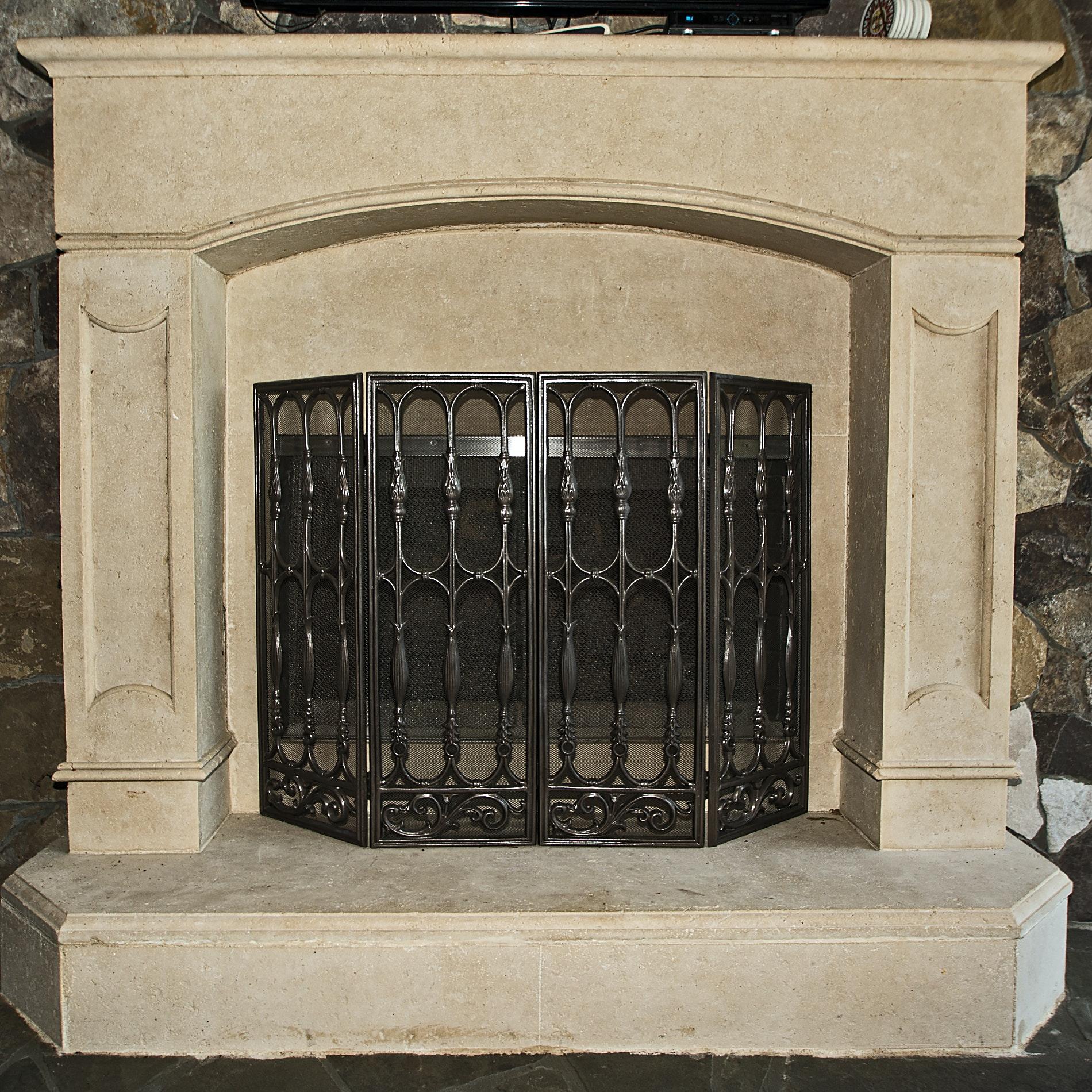 Outdoor Fireplace Screen