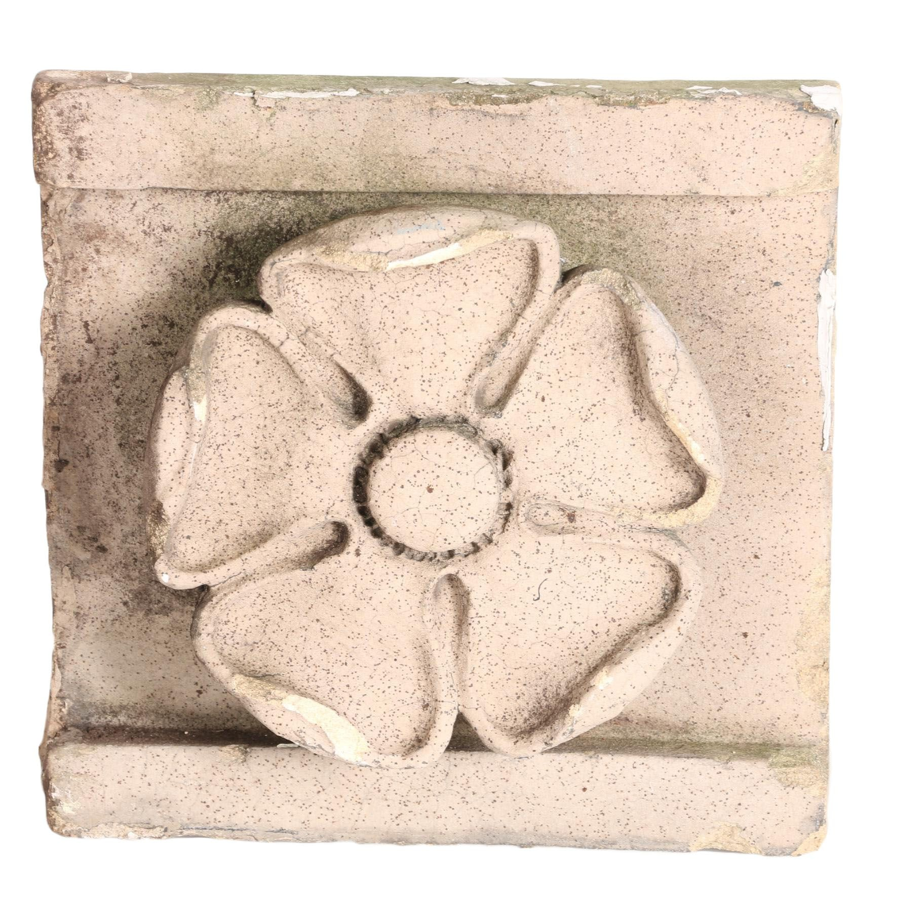 Mid-Century Architectural Salvage of Flower from Dolphin Hotel in NYC