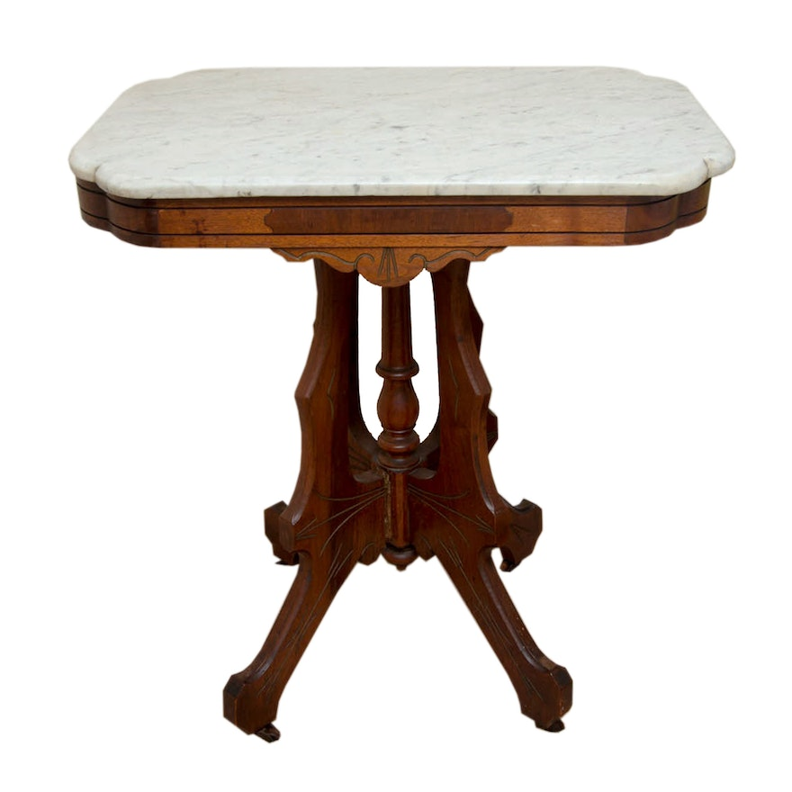 Late 19th Century Victorian Eastlake Parlor Table With