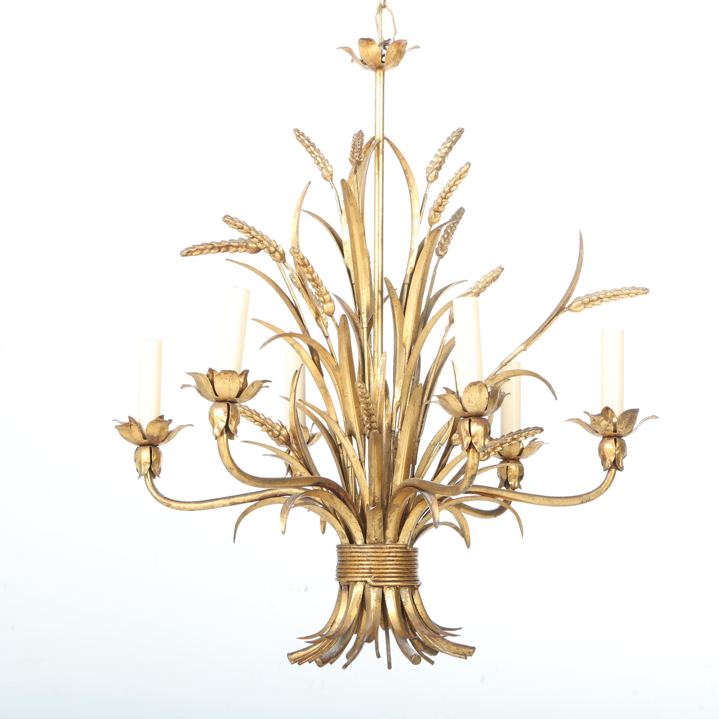 Gold Tone Decorative Chandelier