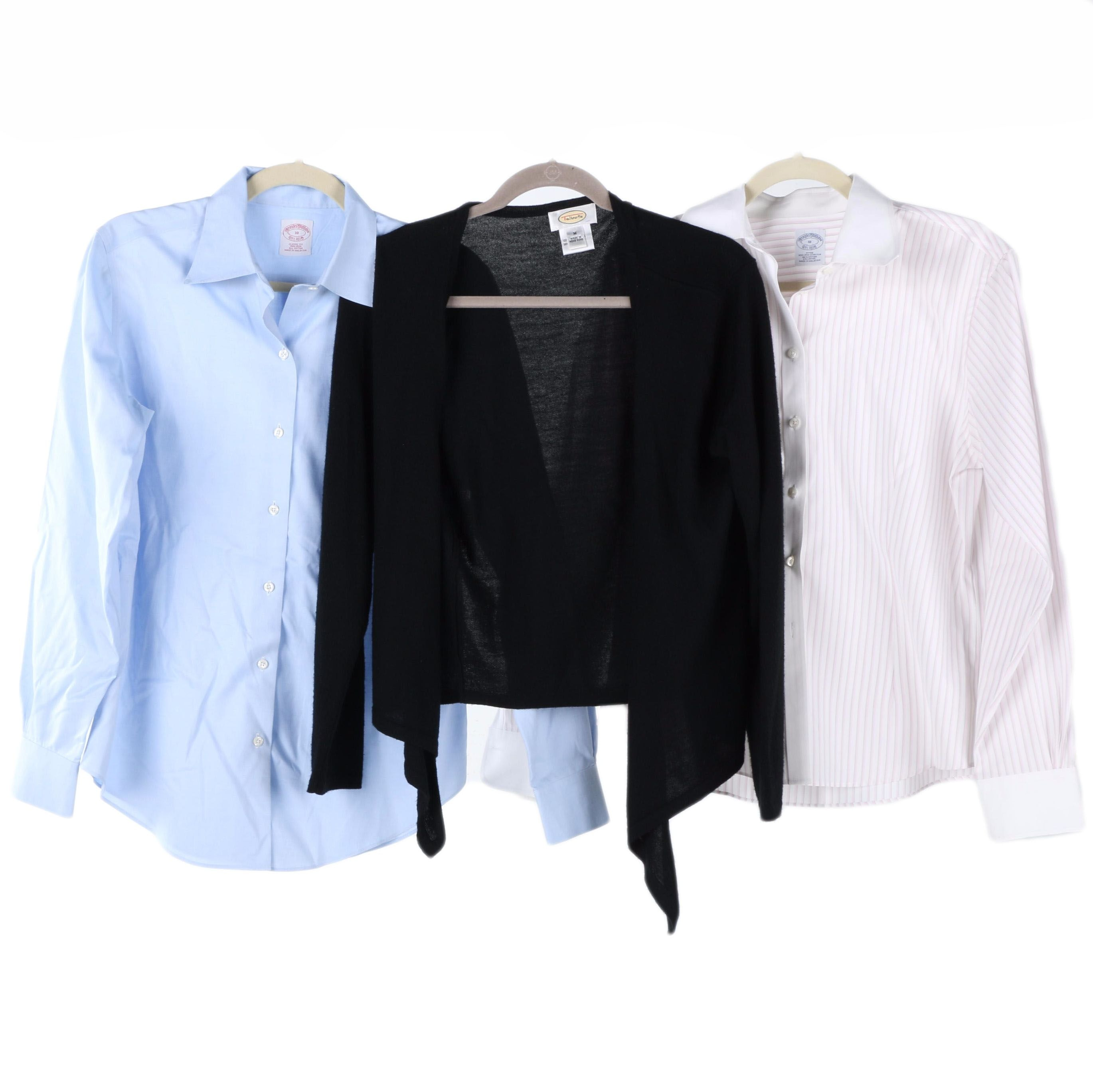 Women's Brooks Brothers Button Downs and Talbots Wool Cardigan