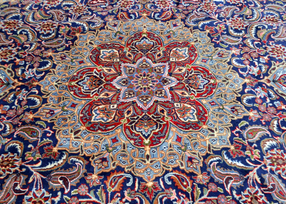 Early 20th Century Hand-Knotted Persian Isfahan Area Rug