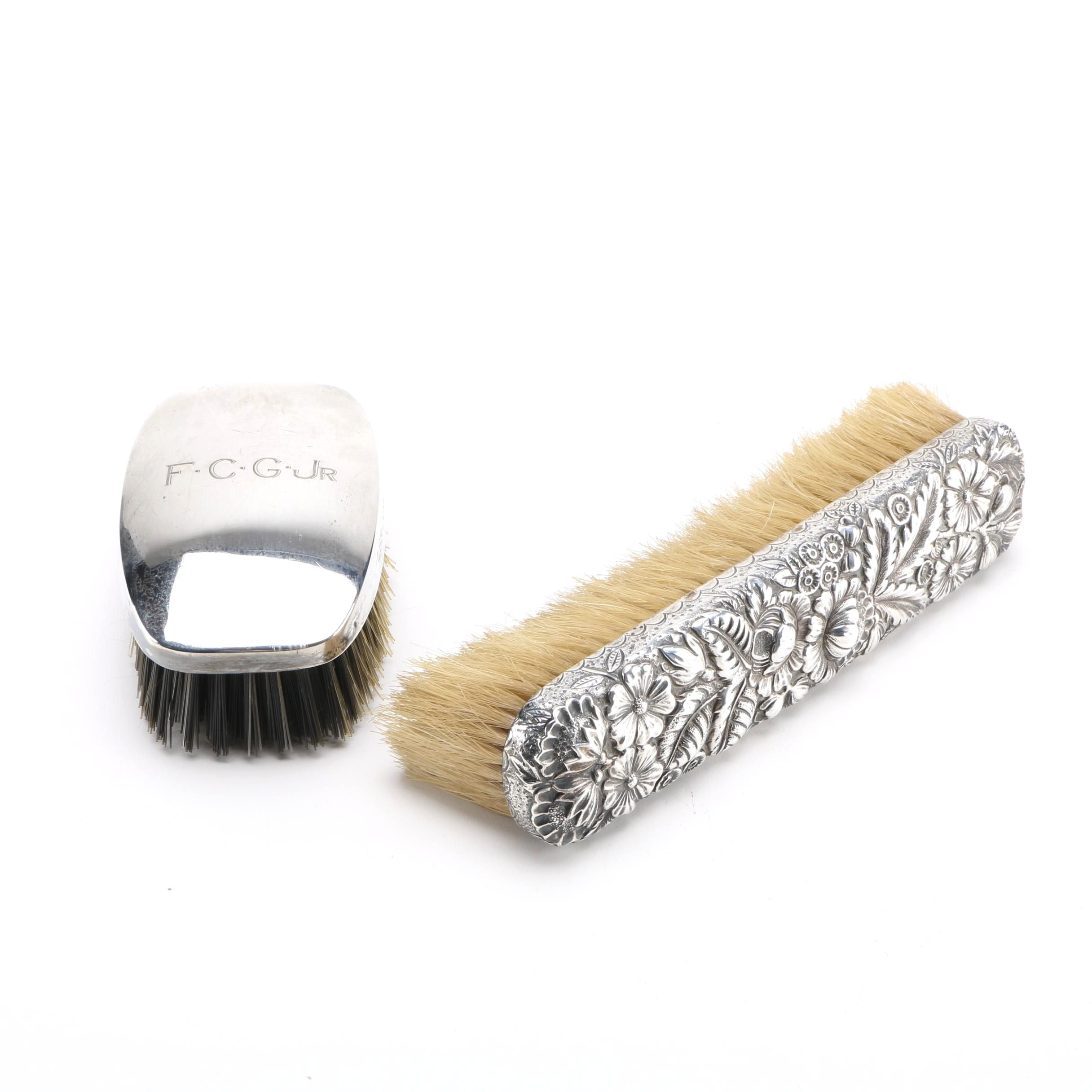 Sterling Silver Hair Brushes