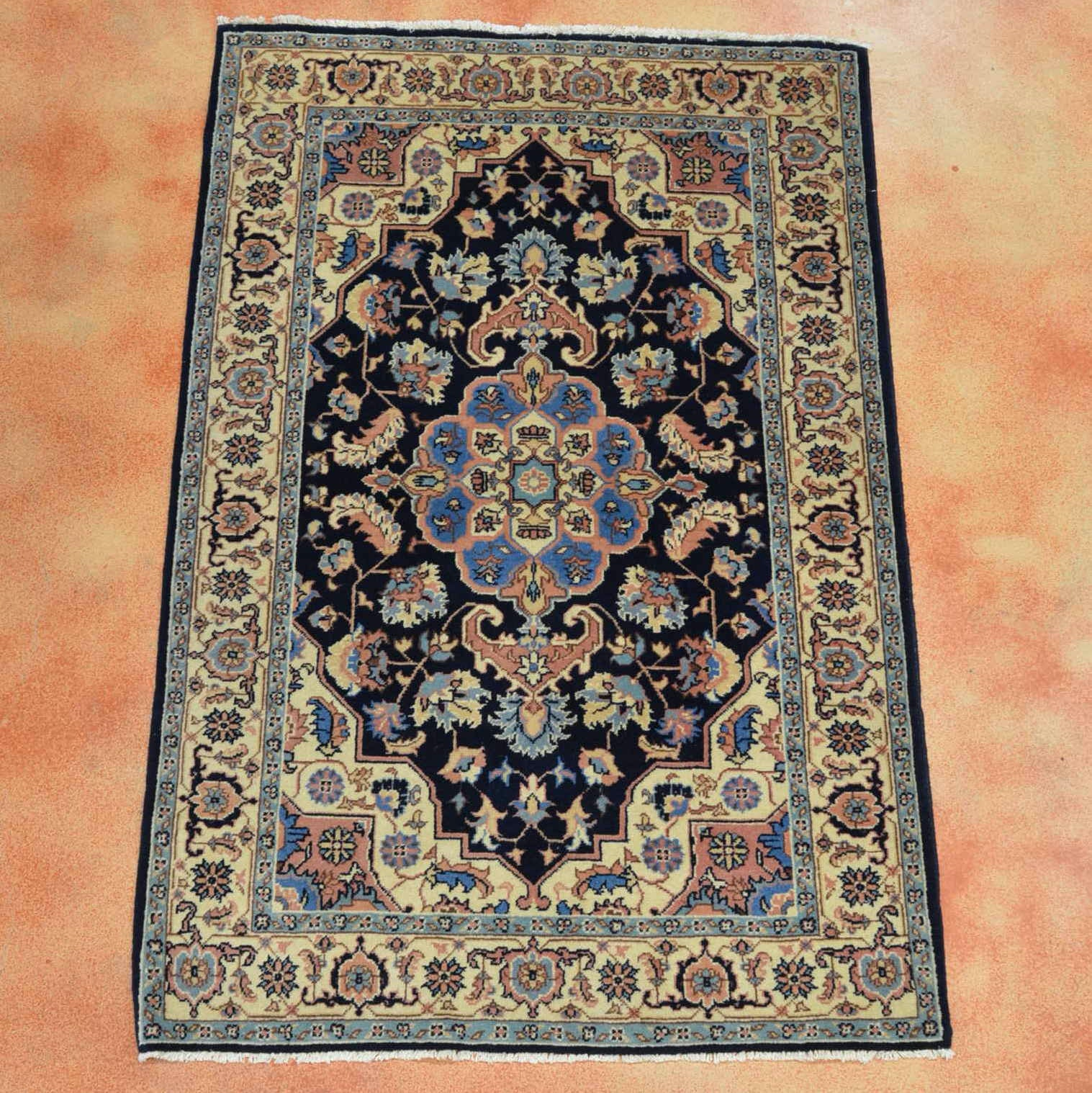 "Hand Knotted Romanian ""Heriz"" Area Rug"