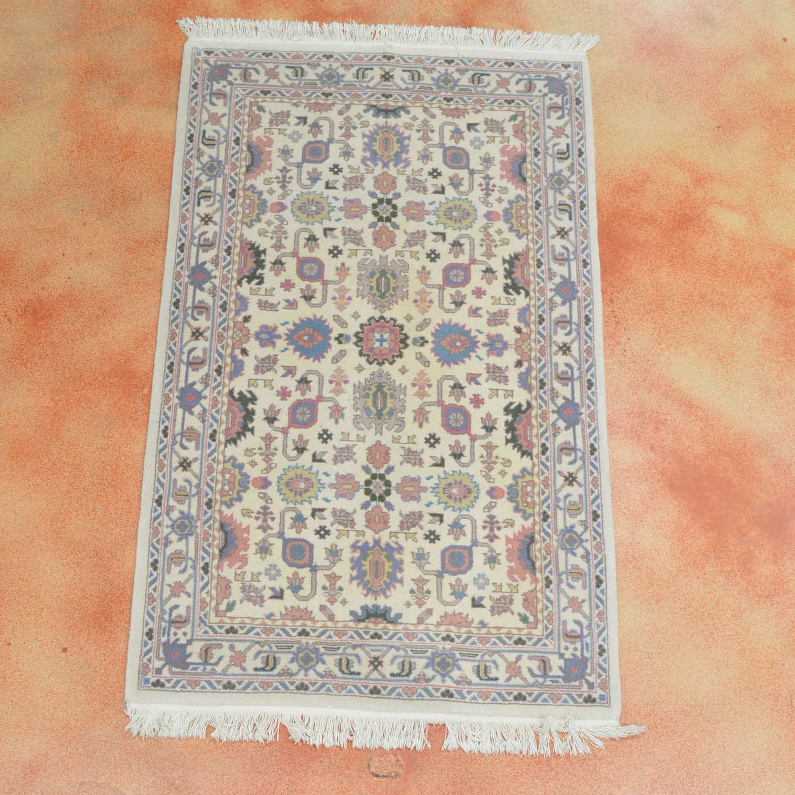 Hand Knotted Chinese Savonnerie Area Rug