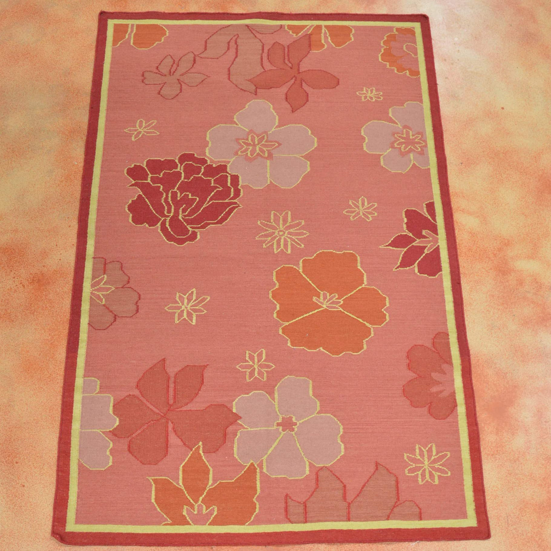 Hand Knotted Chinese Art Deco Area Rug