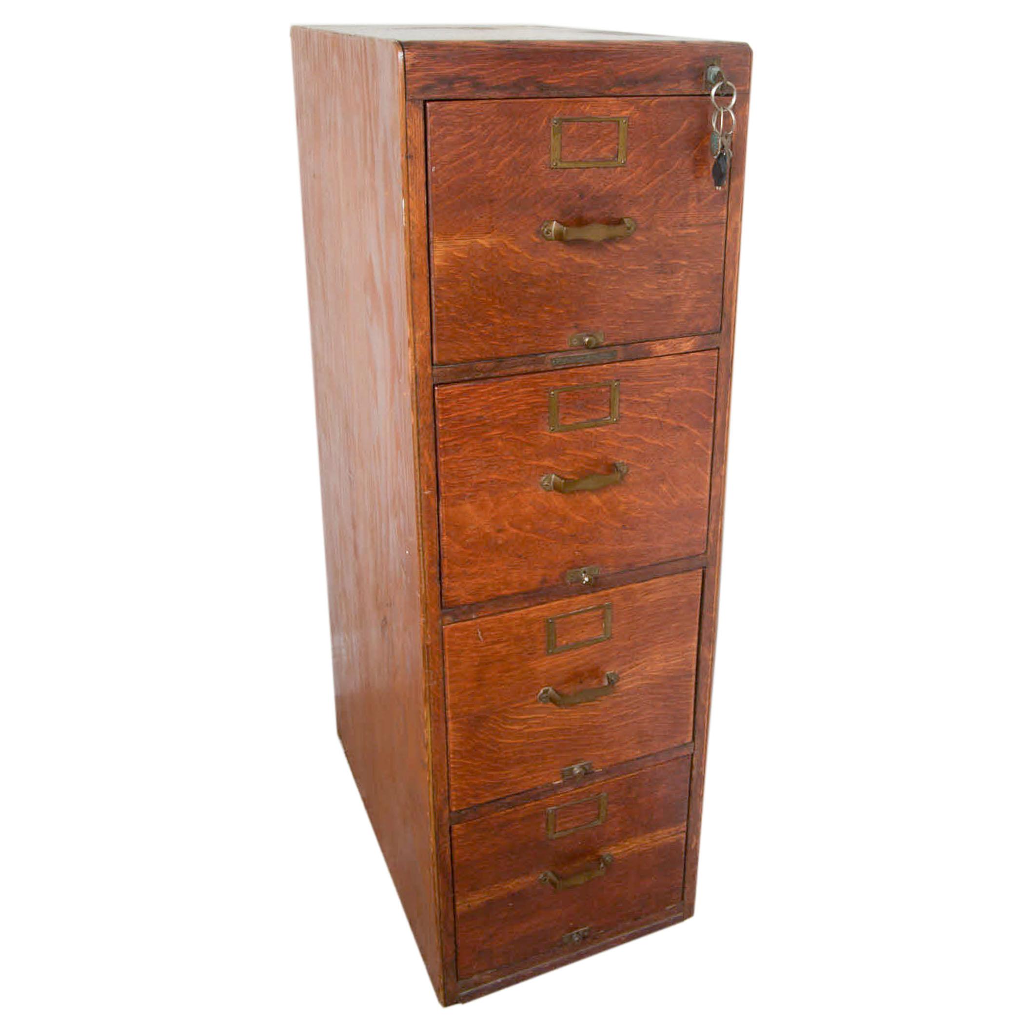 Antique Oak Filing Cabinet by Library Bureau Sole Makers : EBTH