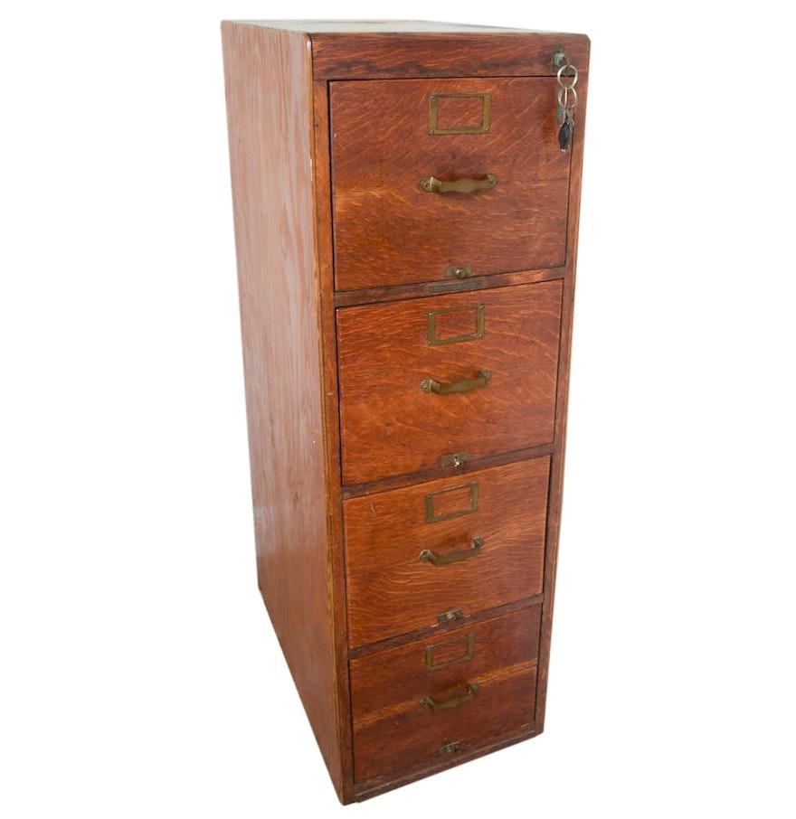 antique oak filing cabinet by library bureau sole makers ebth. Black Bedroom Furniture Sets. Home Design Ideas