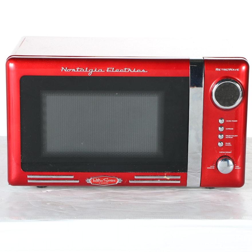 Nostalgia Electrics Red Microwave