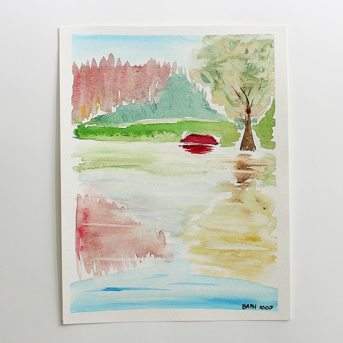 Original Watercolor Painting by Barabara Hubschman