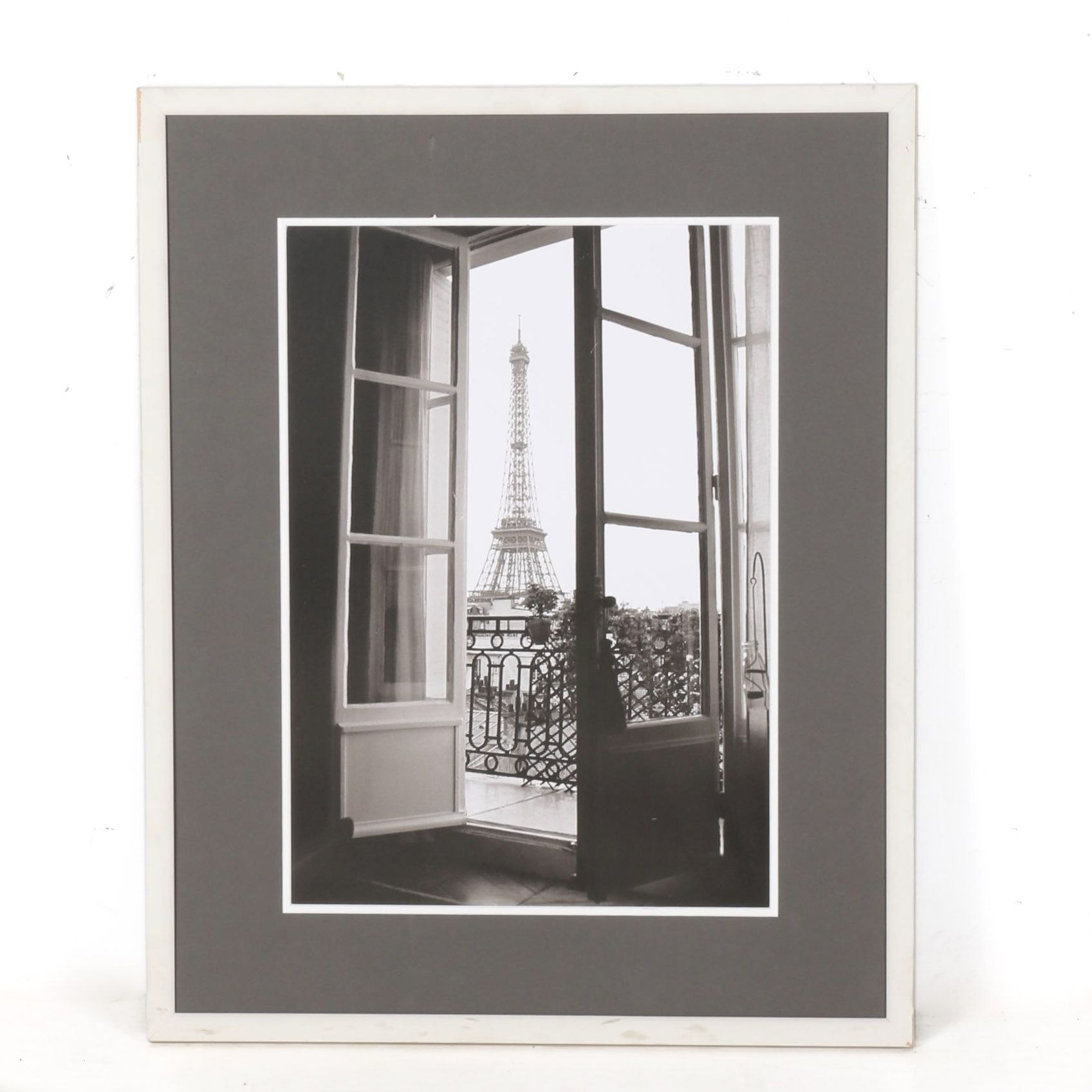 """Framed Print After """"Eiffel Tower Through French Doors"""" Photo by Christian Peacock"""